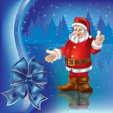 Free Christmas Greeting With Santa Claus Royalty Free Stock Photos - 16545658