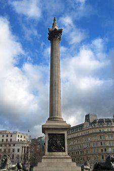 Trafalgar Square - Nelson's Column Stock Images