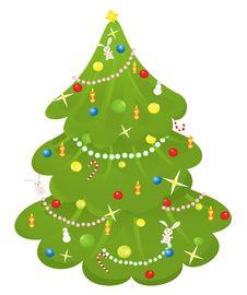 Free Retro Christmas Tree Royalty Free Stock Photos - 16545888