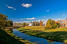 Free Factory On The River. Landscape Royalty Free Stock Photography - 16546077