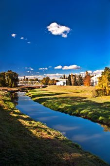 Free Factory On The River. Landscape 2 Royalty Free Stock Photography - 16546097