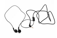 Free Black Earphones Royalty Free Stock Image - 16546216