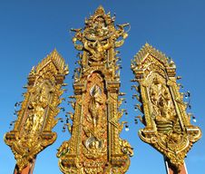 Free Deva Or Angle Statue Golden Triangle Thailand Stock Photo - 16546260
