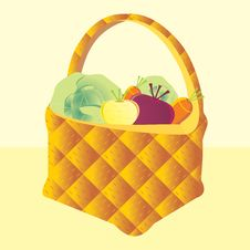 Free Basket With Vegetables Royalty Free Stock Photo - 16546265