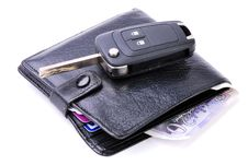 Wallet And Car Key Stock Image