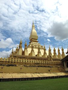 Free Pagoda And Temple At Vientiane In Laos Stock Photo - 16546930
