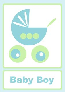 Baby Boy Announcement Stock Image