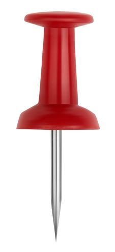 Free Red Push-pins Close-up Royalty Free Stock Images - 16547229