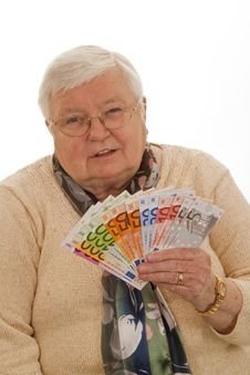 Free Grandma With Euros Stock Images - 16547374