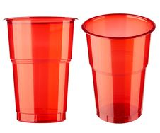 Free Two Plastic Glasses Royalty Free Stock Photos - 16547528
