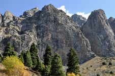 Free Wild Mountainscape In Central Asia Royalty Free Stock Images - 16548239