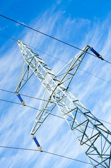Free Pylon And Transmission Power Line Stock Photography - 16548502