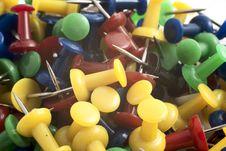 Free Drawing-pins Royalty Free Stock Photo - 16548665