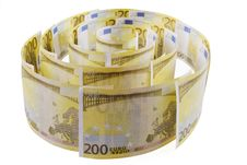 Free Spiral Of 200 Euro Banknotes Royalty Free Stock Image - 16549516