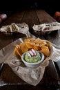 Free Tortilla Chips With Fresh Guacamole Stock Photos - 16552763