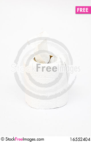 Free A Roll Of Toilet Tissue Or Toilet Paper Stock Images - 16552404
