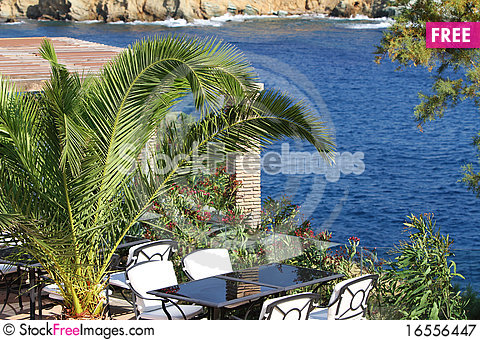 Free Outdoor Beach Restaurant Royalty Free Stock Photography - 16556447