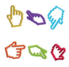 Free 3D Cursor Hand Royalty Free Stock Photos - 16550578