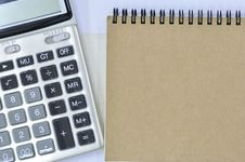 Notebook And Calculator Stock Photo
