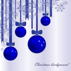 Free Christmas Background With Fur-tree Spheres Royalty Free Stock Photography - 16552517