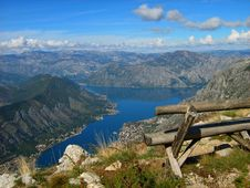 View Of The Bay Of Kotor Stock Image