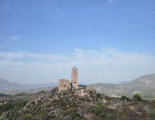 Castle Cocentaina In Spain Stock Photography