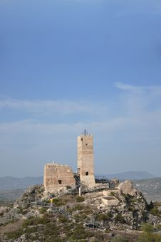 Costa Blanca Spain Castle Royalty Free Stock Photo