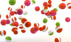 Multi-colored Spheres Stock Image