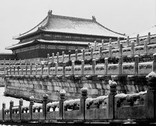 Free The Main Palace In Forbidden City Under Snow Stock Photos - 16554073