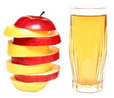 Free Apple Juice And Fresh Apples Royalty Free Stock Photos - 16554218