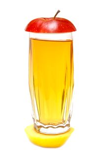 Apple Juice And Lobule Fresh Apple Royalty Free Stock Photography