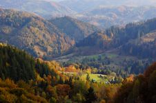 Free Autumn Landscape In Mountains Royalty Free Stock Image - 16554756