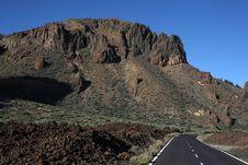 Free Road To Volcano El Teide Royalty Free Stock Photos - 16554998