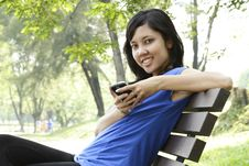 Free Woman With Phone Royalty Free Stock Photos - 16555078