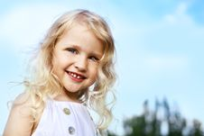Free Laughing Little Girl Stock Photos - 16556913