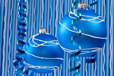 Free Blue Christmas Decoration Stock Images - 16557524