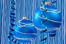 Blue Christmas Decoration Stock Images
