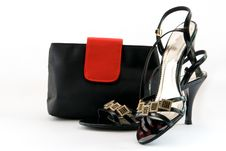 Free Female Handbag And Shoes Stock Photos - 16557903