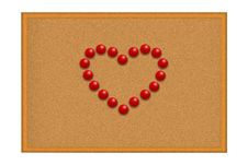 Free Red Pushpins In A Shape Of A Heart Royalty Free Stock Images - 16557939