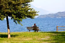 Free Woman On Bench Royalty Free Stock Photos - 16558078