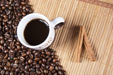 Free Coffee Cup And Coffee Beans Stock Image - 16558421