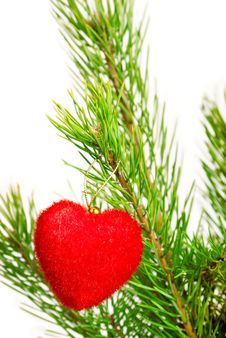 Free Red Heart - Christmas Ornament Stock Images - 16558434