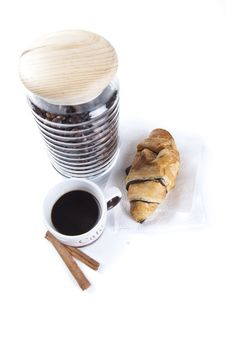 Free Coffee Breakfast Top View Royalty Free Stock Photos - 16558438