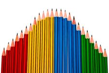 Free Pencils On White Background Royalty Free Stock Images - 16558469