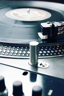 Free Needle On The Vinyl Record Stock Photography - 16558562
