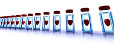 Free Medical Bottles With Red Hearts Stock Photography - 16558872