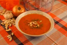 Free Pumpkin Soup Royalty Free Stock Photos - 16558888