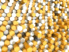 Free Orange Hexagons Stock Photo - 16559000