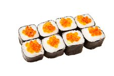Free Sushi With Red Caviar. Royalty Free Stock Photo - 16559525