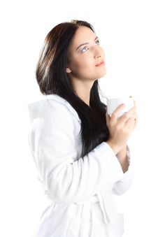 Free Woman In Bathrobe Stock Image - 16559701